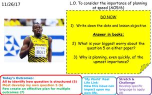 AQA GCSE English Language Paper 2 Q5 - Revise planning