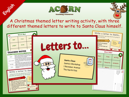 Letters to Santa - English lesson - Christmas writing activities