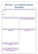 Edexcel 9-1 Catholic Practices Revision Worksheets