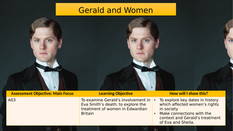 An Inspector Calls: Gerald and his Treatment of Women