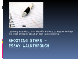 shooting stars carol anne duffy resources by katcustard   shooting stars essay walkthrough ppt