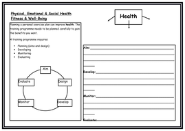 Physical - Emotional - Health - Worksheet and Apply your knowledge
