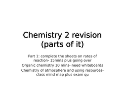 AQA science new GCSE chemistry paper 2 revision lesson