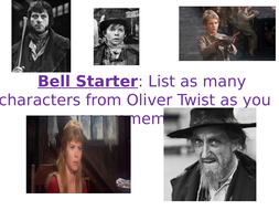 Lesson analysing chapter 1 of Oliver Twist