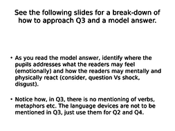 GCSE English Language: How to approach Q3