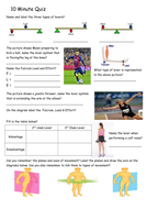GCSE PE - Lever systems - Worksheet - Apply your Knowledge - Quiz