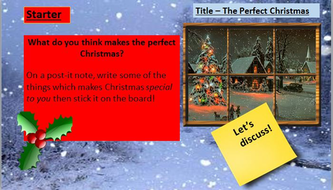 The Perfect Christmas Descriptive Writing Lesson By Engageinenglish  Activity