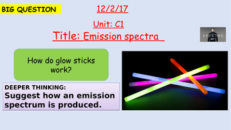 Pearson BTEC New specification-Applied science-Unit 1-Emission spectra-C1