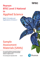 Pearson BTEC -Sample assessment material - Unit 1 Principles and Applications of Science I