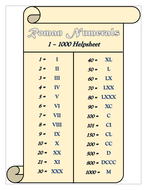 Roman numerals 1 1000 helpsheet by tandlguru teaching resources tes roman numerals 1 1000 helpsheet thecheapjerseys Choice Image