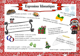 Christmas Expressions.French Christmas Idioms Poster Expressions Sur Le