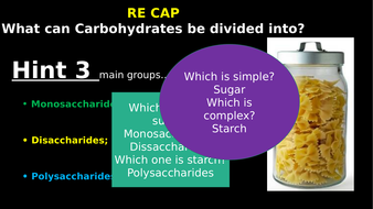 "a simple test on carbohydrates Carbohydrate is an umbrella term that includes all starches and sugars technically, carbs are molecules that contain single, double, or multiple sugar (""saccharide"") units simple sugars contain only one or two saccharide units and are typically sweet tasting complex carbohydrates are."