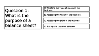 btec business finance unit 2 balance sheet by pipjen77 teaching