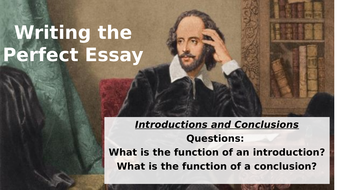 writing the perfect essay introductions and conclusions gcse  activity