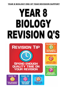 KS3 Biology Science - End of year revision