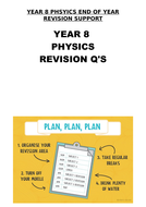 KS3 Physics Science - End of year revision