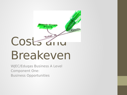 Costs and Break-Even Analysis