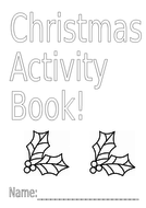 Christmas/Festive booklet with Maths, English & Colouring ... | christmas coloring pages  booklet