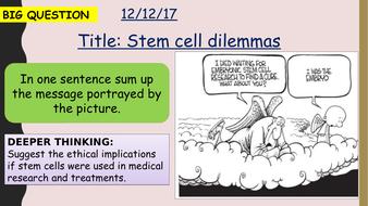 AQA new specification-Stem cell dilemmas-B2.4