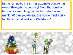Christmas zombie invasion ! Fantastic fun Christmas activities for your class as they save Xmas.