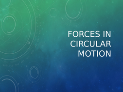 Forces in circular motion