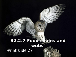 Activate 2 B2.2.7 Food chains and webs