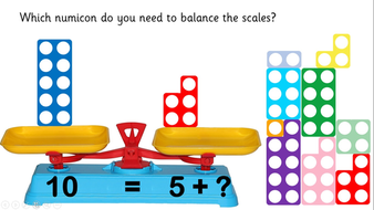 Image result for numicon in balance scales