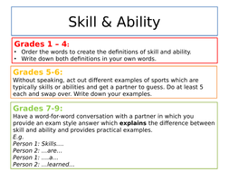 Aqa Gcse Pe New Spec Sports Psychology Active Learning Task Cards