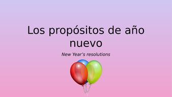 New Year's Resolutions (Spanish) / Los propósitos de año nuevo