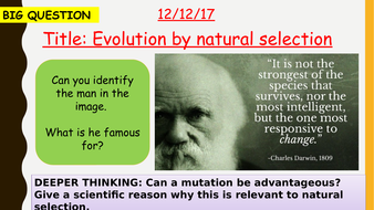 AQA new specification-Evolution by natural selection-B14.2