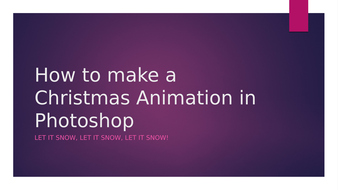 ICT Christmas Animation in Photoshop