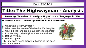 the highwayman questions and answers