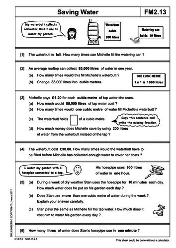 Functional Maths Level 2 Part 6