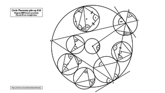 Circle Theorems Revision Exercise #10 by keyboardmonkey