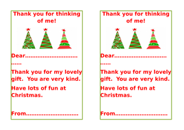 Christmas gift thank-you notes by alpineangel | Teaching ...