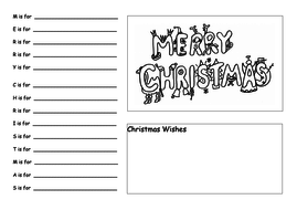 merry christmas acrostic poem by butterbeans65 teaching resources