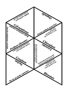 Biology Tarsia Puzzle and Game: Cell Structure and