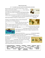 Charles Darwin and Natural Selection - Differentiated worksheets including answers linked to Youtube