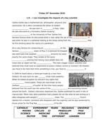 Galileo - 3 way differentiated worksheet