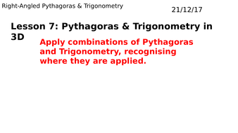 3D Pythagoras & Trigonometry