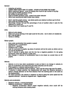 Key revision points for M1 Mechanics A-Level Maths