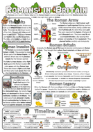 Romans in Britain Factsheet/Poster
