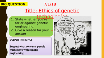 AQA new specification-Ethics of genetic technologies-B13.5