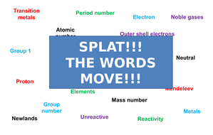Periodic Table   Moving Splat!!!   Game   Revision