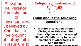OCR New Topic - Religious Pluralism & Theology - Exclusivism