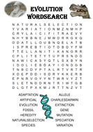 biology word search puzzle evolution includes answer key by ansellwill teaching resources tes. Black Bedroom Furniture Sets. Home Design Ideas