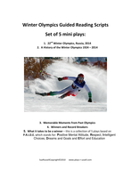 Winter Olympics Guided Reading Plays updated to 2018