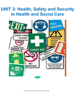 health safety and security in health and social care