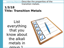Aqa gcse c2 the periodic table l8 transition metals by l8 1 transition metals powerpointpptx urtaz Gallery
