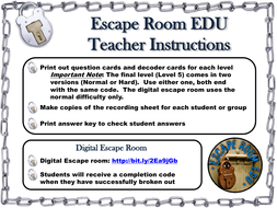 Genetics and Heredity: Science Escape Room